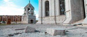 Нападение Азербайджана на собор Газанчецоц в Шуши