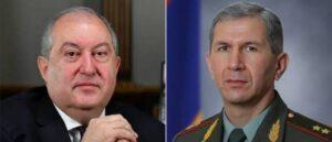 Президент Армении передаст дело начальника Генштаба армии в Высокий суд