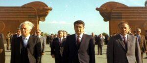 Демирчян, Алиев и Шеварднадзе - Посещение Сардарапата