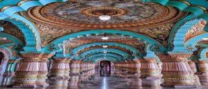 Зал Дурбар в индийском Майсурском дворце