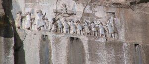 Клинописный текст об Армении на скале Бехистун
