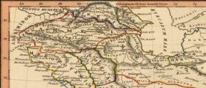 Persis, Parthia, Armenia - Карта опубликованная в Лондоне-1835г.