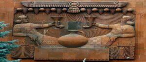 Assyria News о барельефе на стене коньячного завода Арарат в Ереване