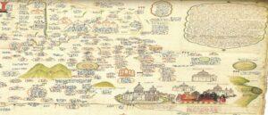 Рукописная карта Иеремии Челеби Кеомурчяна