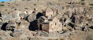 Хачкар XII века у въезда в село Кош - Армения