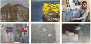 Картины на джинсах гюмрийского художника Карена Барсегяна