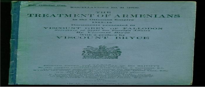 Обращение с армянами в османской империи - Документы представленные Виконту Грею из Фаллодона-1916г