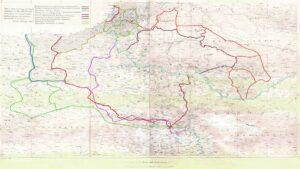 Официальная карта Парижской ассамблеи определяющая границы Армении и Азербайджана
