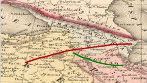 Исторические карты определяющие местонахождение Армении, Арцаха и Азербайджана